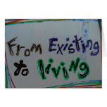 """""""from existing to living"""" recovery cards"""