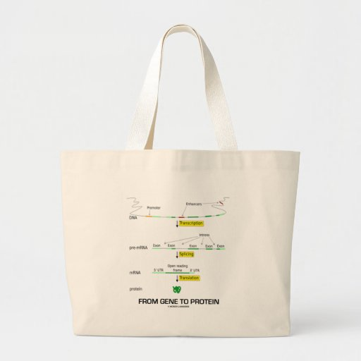 From Gene To Protein Jumbo Tote Bag