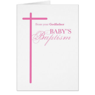 From Godfather on Baptism of Girl, Goddaughter Cards