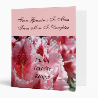 From Grandma to Mom to Daughter Family Recipes Binder