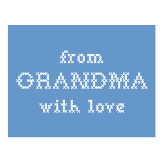 From Grandma With Love Blue Postcard