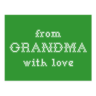 From Grandma With Love Green Postcard