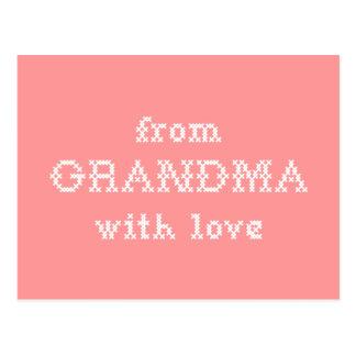 From Grandma With Love Peach Postcard