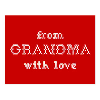 From Grandma With Love Red Postcard