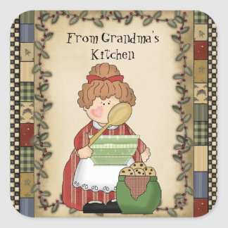 From Grandma's Kitchen cartoon sticker