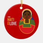 From Haiti With Love Adoption Keepsake Double-Sided Ceramic Round Christmas Ornament