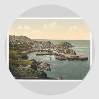 From Hillsborough, Ilfracombe, England classic Pho Round Stickers