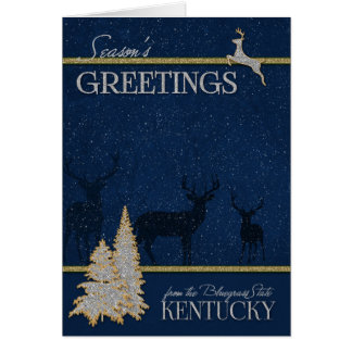 from Kentucky The Bluegrass State Christmas Card