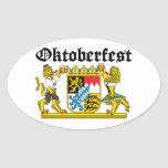 From Leon Oktoberfest with suits Oval Sticker