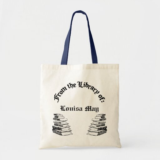 From Library of Custom Canvas Tote Book Bag