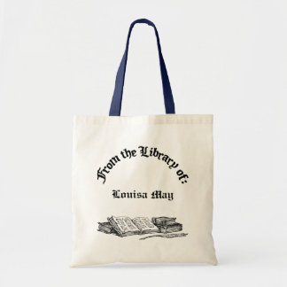 From Library of Old Books Custom Canvas Book Bag