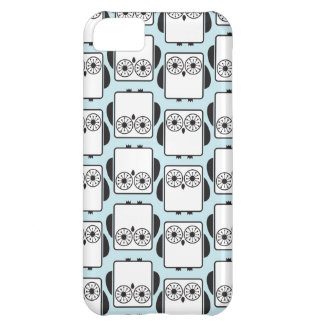 From Lucy: COOL GEEKY OWL PATTERN   aqua blue iPhone 5C Case