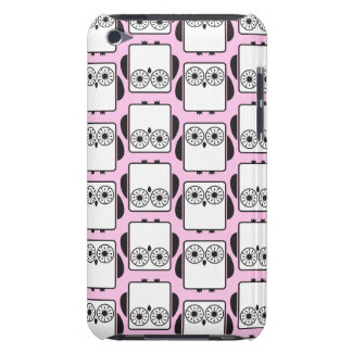 From Lucy: COOL GEEKY OWL PATTERN   pink iPod Touch Case