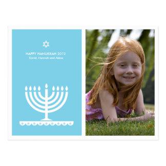 From Lucy: HAPPY HANUKKAH MODERN MENORAH Postcards