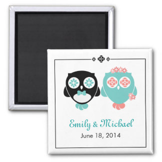 From Lucy: OWL WEDDING   Save The Date Magnet