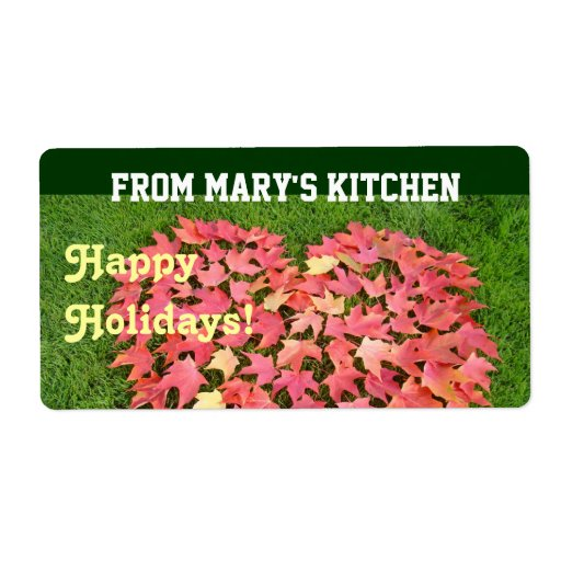 From Mary's Kitchen Gift Tags Heart Leaves Dessert Shipping Label