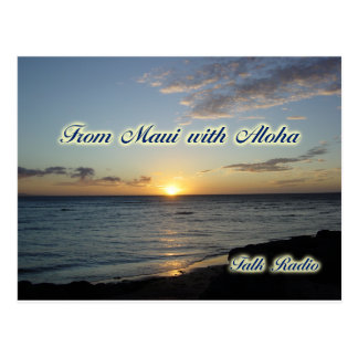 From Maui with Aloha Paper Products Postcard