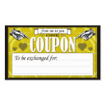 From Me To You - One Coupon Double-Sided Standard Business Cards (Pack Of 100)