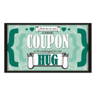 From Me to You - One Hug Coupon Business Cards