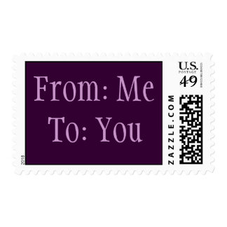 From Me, To You Postage Stamp