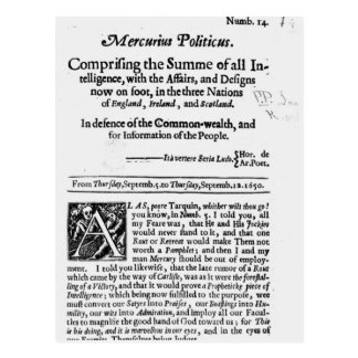 from 'Mercurius Politicus' Postcard