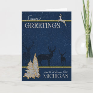 Michigan holiday cards greeting photo cards zazzle from michigan the wolverine state christmas holiday card m4hsunfo