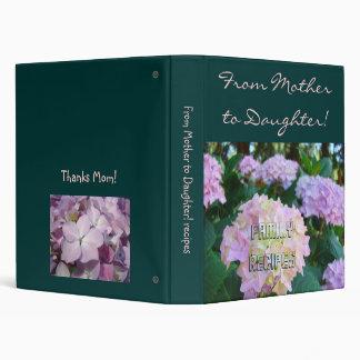 From Mother to Daughter! Family recipes binder
