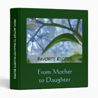 From Mother to Daughter Favorite Recipes binders