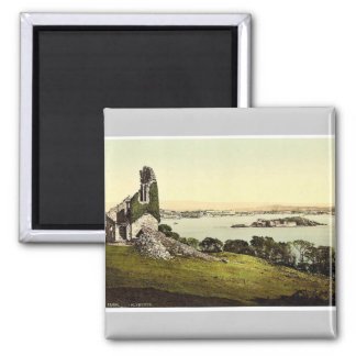 From Mount Edgcumbe, Plymouth, England classic Pho 2 Inch Square Magnet