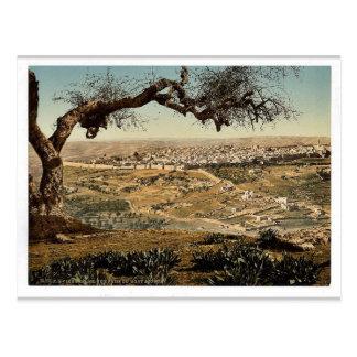From Mount Scopus, Jerusalem, Holy Land classic Ph Postcard