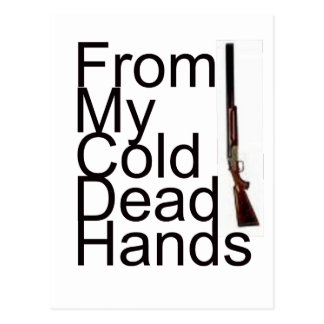 From My Cold Dead Hands Postcard