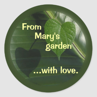 From My Garden Sticker to Personalize