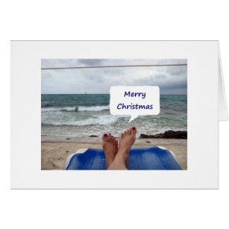 FROM MY HEAD TO MY TOES I LOVE YOU-MERRY CHRISTMAS GREETING CARD