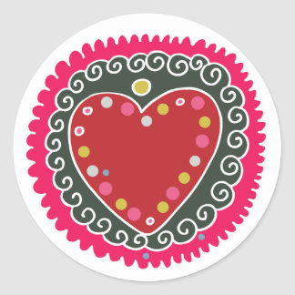 From My Heart Classic Round Sticker
