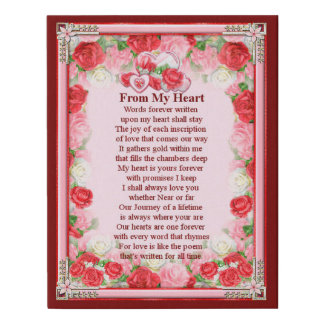 From My Heart Wrapped Canvas