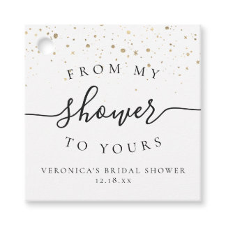 From My Shower To Yours | Bridal Shower Favor Tag