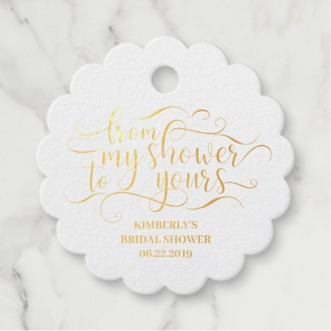 From My Shower To Yours - Thank You Favor Tags
