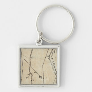 From New York to Cranberry 45* Silver-Colored Square Keychain