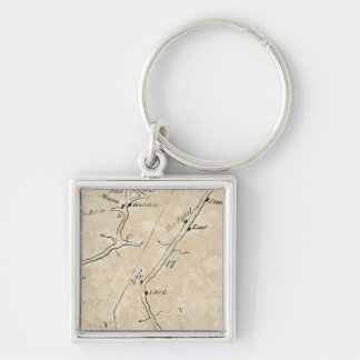 From New York to Poughkeepsie 10 Silver-Colored Square Keychain