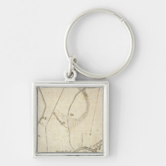 From New York to Poughkeepsie 12 Silver-Colored Square Keychain