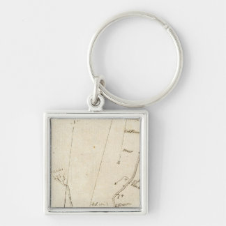 From New York to Poughkeepsie 13 Silver-Colored Square Keychain