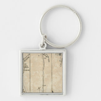 From New York to Poughkeepsie 9 Silver-Colored Square Keychain