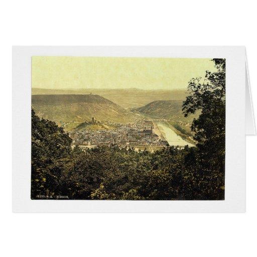From Niederwald, Bingen, the Rhine, Germany classi Greeting Card