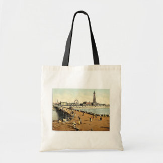 From North Pier, Blackpool, England vintage Photoc Budget Tote Bag