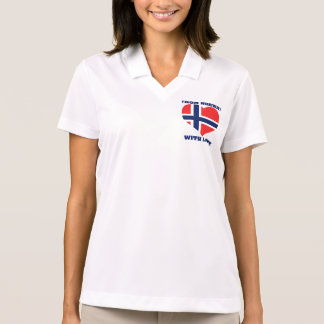 From Norway with love,shine your light over earth Polo T-shirts