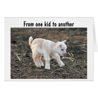 FROM ONE KID TO ANTOTHER HAPPY BIRTHDAY GREETING CARD