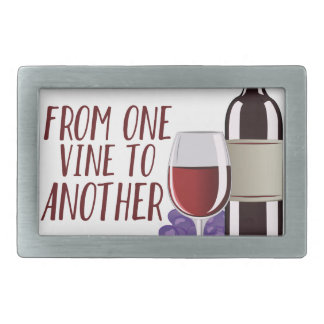 From One Vine Rectangular Belt Buckle