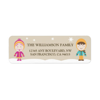 From-Our-Family Return Address Labels (chocolate)