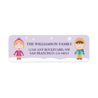 From-Our-Family Return Address Labels (lavender)