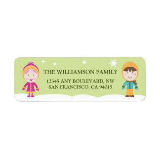 From-Our-Family Return Address Labels (lime)